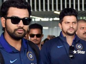 Cricketers Rohit Sharma, Suresh Raina arrive at NSCBI Airport for the upcoming T 20 World Cup