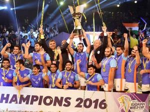 India celebrates the Final win Kabaddi World Cup 2016