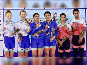 India wins 6 medals on opening day of the Track Asia Cup