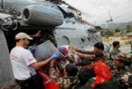 French and Polish rescue team with Nepalese Army helping earthquake