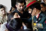 Army chief Gen Dalbir Singh Suhag consoles the family of Lieutenant-Colonel Rajesh Gulati