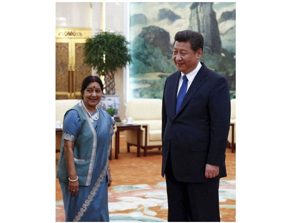 Foreign Minister of India, Sushma Swaraj, Chinese President Xi Jinping, Foreign Secretary of India, Xi Jinping
