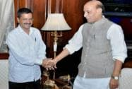 Arvind Kejriwal meets with Rajnath Singh