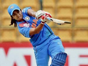 ndia's Velaswamy Vanitha plays a shot during the ICC Women's World T20 match against Bangladesh at Chinnaswamy Stadium