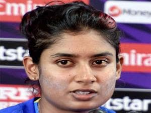 India's Women Cricket team's skipper Mithali Raj addressing a press conference after a practice session ahead of the Women's World T20 match