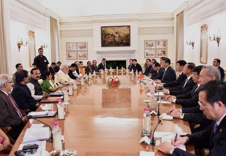 Prime Minister, Narendra Modi, Chinese President, Xi Jinping, delegation, level, meeting, Hyderabad House