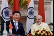 Prime Minister Narendra Modi and Chinese President Xi Jinping at the agreement signing ceremony