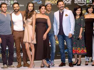 Bollywood actors during India's first Amazon Original series Inside Edge