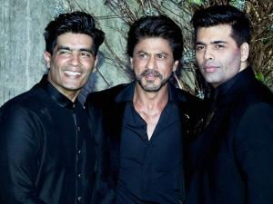 Manish Malhotra with Karan Johar and Shah Rukh Khan