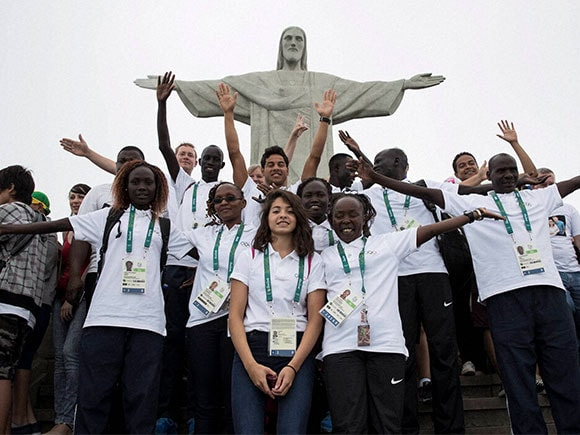 Refugee Olympic Team, Christ the Redeemer , rio de janeiro, rio olympic news, rio olympic 2016, rio olympics, rio olympic logo, olympics 2016