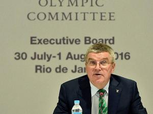International Olympic Committee President Thomas Bach speaks during the IOC Executive Board Meeting
