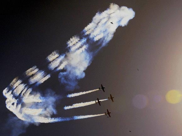Aircraft,  British, British Aerobatic Team, Air Show, Ahmedabad