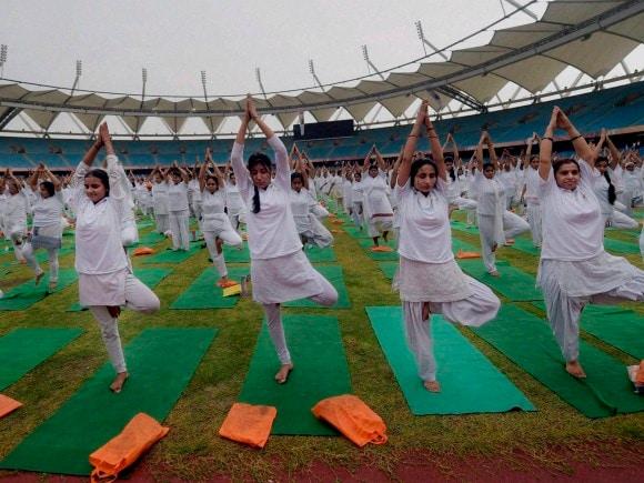 International Yoga Day, Baba Ramdev, Yoga, Yoga Rehersal Camp, Mega Rehearsal, World Yoga Day, India Gate, Yoga Practice,  Jawarhar Lal Nehru Stadium, New Delhi