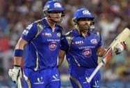 Mumbai Indians Captain Rohit Sharma and C Anderson