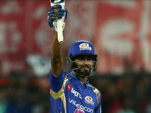 Hardik Pandya of the Mumbai Indians celebrates