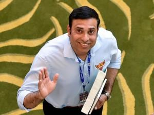 Sunrisers Hyderabad Assistant Coach VVS Laxman during the IPL Auction 2017