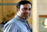 Sunrisers Hyderabad mentor VVS Laxman arrives to take part at the IPL Season 8 auction