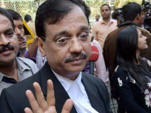 Public prosecutor Ujjwal Nikam interacts with the media after David Headley deposed before a court through video link in the 2611 case, in Mumbai