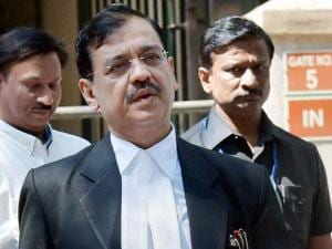 Public prosecutor Ujjwal Nikam interacts with the_media after David Headley deposed before a court through video link in the 2611 case, in Mumbai