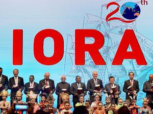 Vice President Hamid Ansari at the opening ceremony of 20th Indian Ocean Rim Association Leaders' Summit, in Jakarta