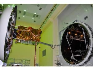 GSAT-9 being Prepared for thermovac test