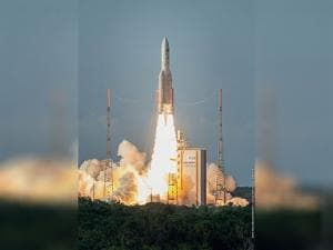 Ariane 5 carrying  India's latest communication satellite GSAT-18