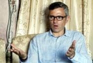 Jammu and Kashmir Chief Minister Omar Abdullah during an interview