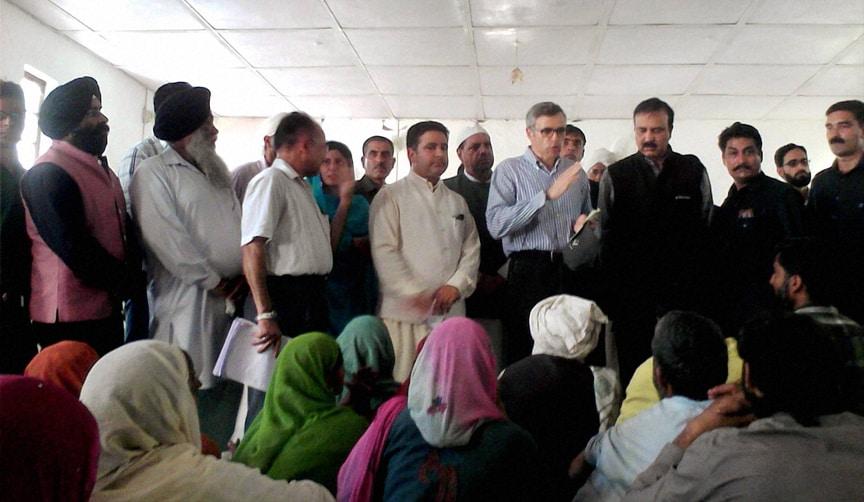 J K CM, Omar Abdullah, meeting, flood, affected, people, relief camp, Poonch