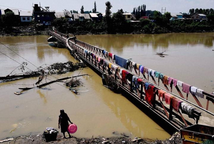 view, River, Jhelam, Lasjan, Srinagar