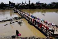 A view of River Jhelam near Lasjan in Srinagar