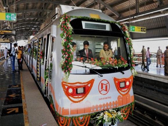 Rajasthan Chief Minister, Vasundhara Raje, Metro, Jaipur Metro, Jaipur, Mansarovar, Chandpole, Jaipur Metro Rail Project, Metro Tarin