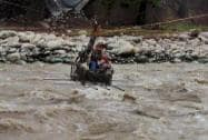 Army person rescues a boy from flash floods in Poonch, Jammu and Kashmir