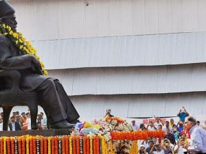 Rata Tata pays homage to the founder of Tata Steel, J N Tata,  on the his 178th Birth Anniversary in Jamshedpur