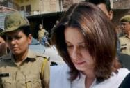 Film actress Neelam arrives to appear in a court in Jodhpur