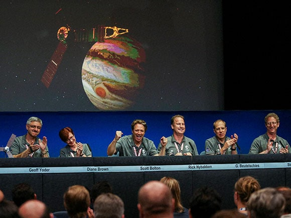 NASA's Juno spacecraft , juno probe, Juno spacecraft, jupiter probe 2016, juno probe arrives at jupiter