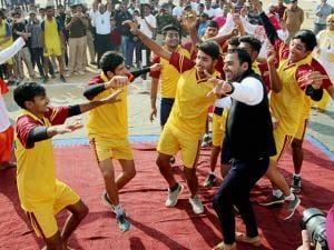 Kabaddi Captain Anup Kumar visits CRPF inter school Tournament