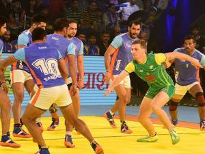 India vs Australia during the third match of Kabaddi Worldcup 2016