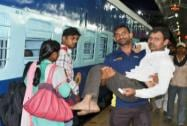 Injured passenger of Kamayani Express train