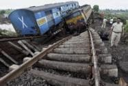 Twin train derailment in MP