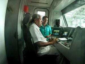 Pinarayi Vijayan who is also the Minister in-charge of Kochi Metro