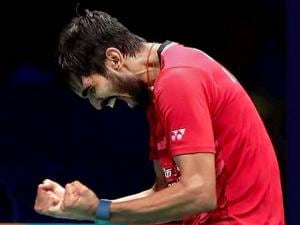 Kidambi Srikanth exults after clinching the Australian Open Super Series title
