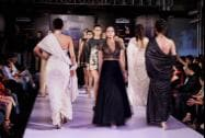 Models walk the ramp during the Kingfisher Style Fashion Week in Bengaluru