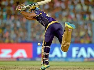 KKR batsman Yusuf Pathan plays a shot during IPL match against Kings XI Punjab at Eden Garden in Kolkata