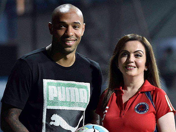Thierry Henry, ISL, Nita Ambani, Atletico de Kolkata, Football
