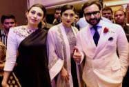 Kareena Kapoor with husband Saif Ali Khan and sister Karisma Kapoor
