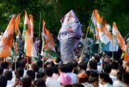 Youth Congress workers protest against PM, demand Sushma's resignation