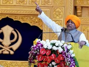 Bihar Chief Minister addresses the gathering during 350th birth anniversary celebrations of Guru Gobind Singh