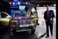Sumit Sawhney, Country CEO and MD, Renault Operations in India during the launch of Renault Duster AWD