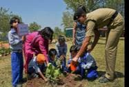 "School children take part in BSF's plantation drive ""My Earth My Duty – Pan India Plantation"""