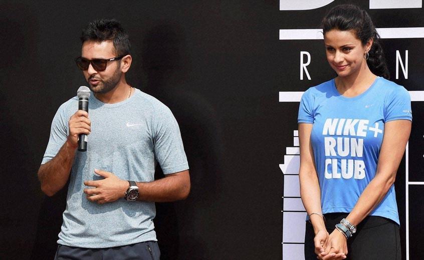 Actress, Gul Panag, crickter, Parthiv Patel, launch, Nike Run Club, New Delhi